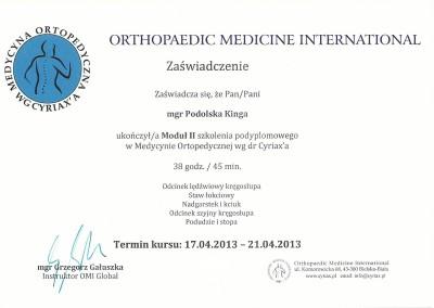 Certyfikat Kinga Podolska1