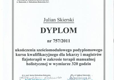 Dyplom julian skierski10