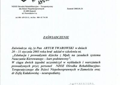 Artur Twarowski dyplom13