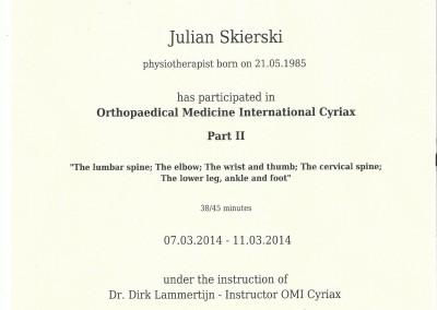 Dyplom julian skierski