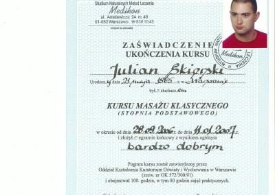 Dyplom julian skierski4