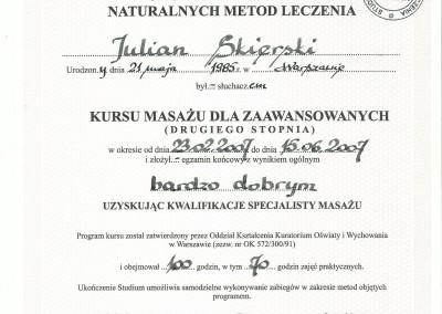 Dyplom julian skierski5
