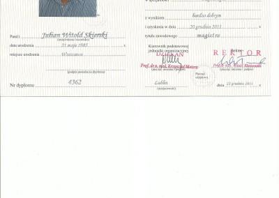 Dyplom julian skierski9