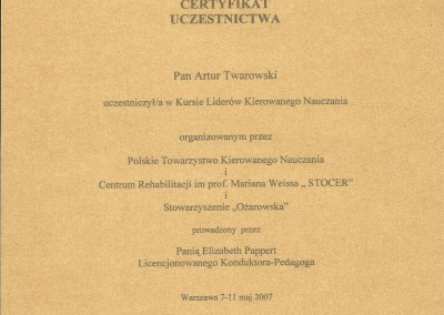 Artur Twarowski dyplom18