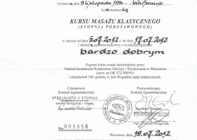 Natalia Twarowska kurs masażu klasycznego