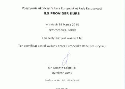 Kornel Mikołajczyk certyfikat rada resuscytacji