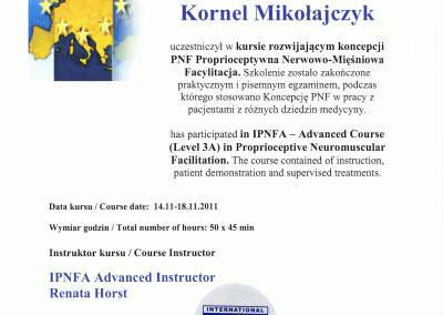 Kornel Mikołajczyk kurs metody rehabiltiacji pnf