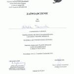 certyfikat dla natalia twarowska rehabilitacja dzieci