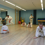 dzieci na zajęciach karate